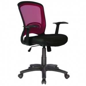 Intro Red Mesh Back Task Chair with Arms