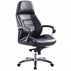 Magnum Executive HB Office Chair with Arms in Black Leather