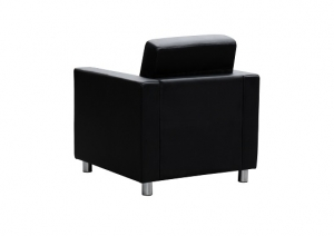Marcus One Seater Reception Lounge Black Leather