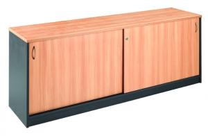 Essentials Express Commercial Sliding Door Credenza 1800W Colour Beech/Charcoal