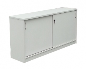 Essentials Express Commercial Sliding Door Credenza 1200W Colour White