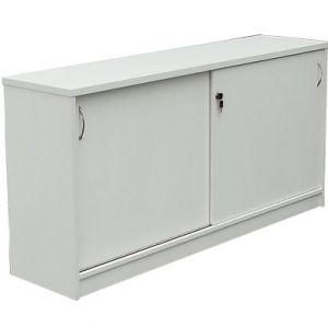 Essentials Express Commercial Sliding Door Credenza 1200W Colour White
