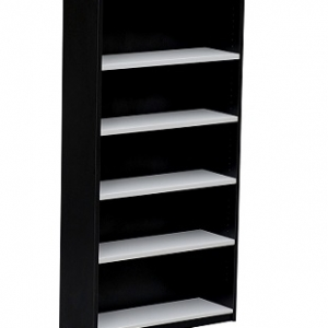 Essentials Express Commercial Open Bookcase 1800H Colour White/Charcaol