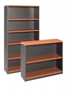 Essentials Express Commercial Open Bookcase 900H, 1800H Colour Cherry/Charcaol