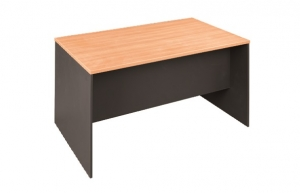Essentials Express Commercial Straight Desk 1500W x 900D Colour Beech/Charcoal