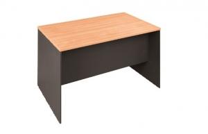 Essentials Express Commercial Straight Desk 1500W x 750D Colour Beech/Charcoal