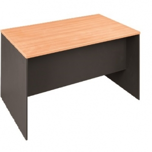 Essentials Express Commercial Straight Desk 1500W x 750D Colour Beech/Charcoal