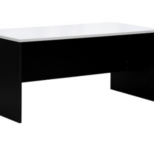 Essentials Express Commercial Straight Desk 1800W x 750D Colour White/Charcoal