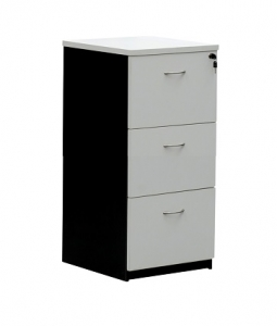 Essentials express Commercial Filing Cabinet 3 Drawers Colour White/Charcoal