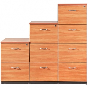 Essentials Express Commercial Filing Cabinet 2, 3, 4 Drawers Colour Cherry/Charcoal