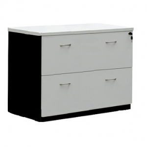 Essentials Express Commercial 2 Drawer Lateral Filing Cabinet Colour White/Charcaol