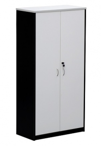 Essentials Express Commercial Full Door Storage Cabinet 1800H Colour White/Charcoal