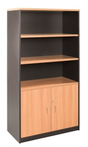 Essentials Express Commercial Half Door Storage Cabinet 1800H Colour Beech/Charcoal