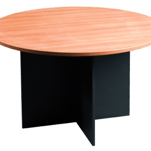 Essentials Express Commercial Round Meeting Table 1200Dia Colour Beech/Charcoal