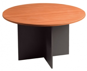 Essentials Express Commercial Round Meeting Table 900Dia Colour Charcoal/Charcoal