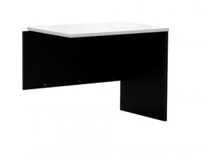 Essentials Express Commercial Desk Return 900W x 600D Colour White/Charcoal
