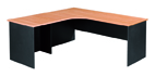 Essentials Express Commercial Corner Desk 1800W x 1800W Colour Beech/Charcoal