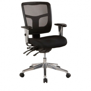 Oyster Ergonomic 4 Lever Black Low Back Mesh with Arms Office Chair