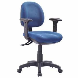 P350 AFRDI Approved Ergonomic Medium Back Office Chair with Arms Blue Fabric