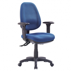 P350 AFRDI Approved Ergonomic High Back with Arms Blue Fabric