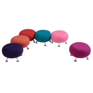 Radius2 Round Ottoman Fabric finish