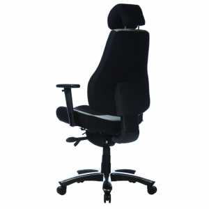 Ranger Executive HB Office Chair with Arms & Headrest in Black/Grey