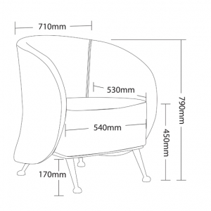 Ruby Tub Chair Dimensions