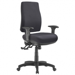 Spot Big Boy Square HB Task 3 lever Ergonomic Office Chair with Arms in Black