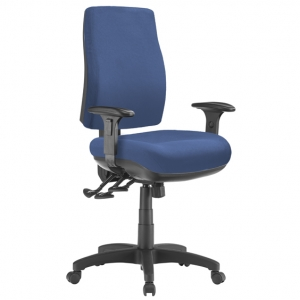 Spot Big Boy Square HB Task 3 lever Ergonomic Office Chair with Arms in Blue
