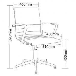 Swing Boardroom Chair Dimensions