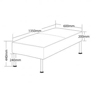 TECHNO2 Bench Seat Dimensions
