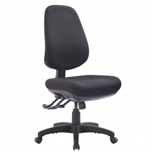TR600 Big Boy Fabric Upholstered 3 Lever Ergonomic Office Chair in Black
