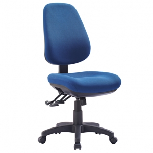 TR600 Big Boy Fabric Upholstered 3 Lever Ergonomic Office Chair in Blue