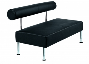Techno Bench Seat with Back Rest Black