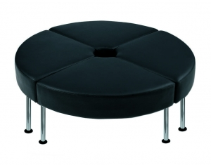 Techno Round Seater Setting Black