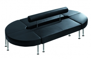 Techno Duo Bench Seating Black