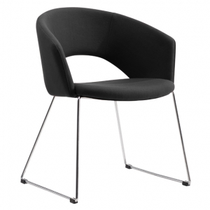 Tonic Client Waiting Room Chair Charcoal Fabric