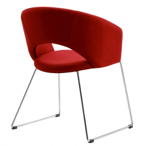 Tonic Client Chair Red Back View