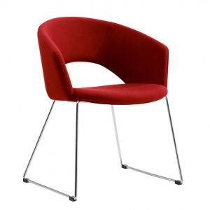 Tonic Visitors Waiting Room Chair Red Fabric