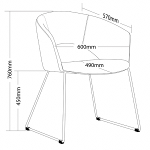 Tonic Client Chair Dimensions