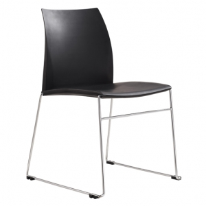 Vinn Visitors Sled Base Black Poly Chair