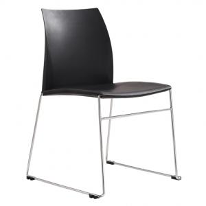 Vinn Visitors Sled Base Black Poly Chair