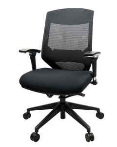 Vogue 4M Managers Mesh Back Padded Seat Office Chair with Arms Black Office Chair