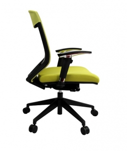 Vogue Executive Med Back Mesh with Arms Colour Green Office Chair