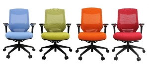 Vogue 4M Managers Mesh Back Padded Seat Office Chair with Arms in Colours Office Chair