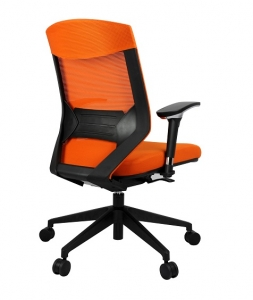 Vogue Executive Med Back Mesh with Arms Colour Orange Office Chair