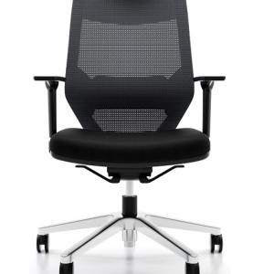 Vogue Executive Med Back Black Mesh with Armrest