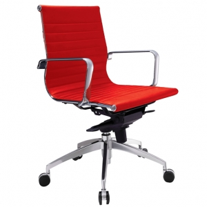 Web Executive MB Thin Padded PU Red Office Chair with Arms