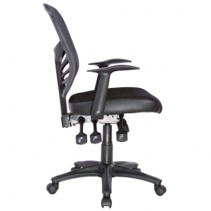 Yarra Ergonomic 3 Lever Black Mesh Back Task Office Chair with Arms