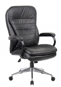 YS05H Titan Executive High Back 200kg Chair BLack Leather
